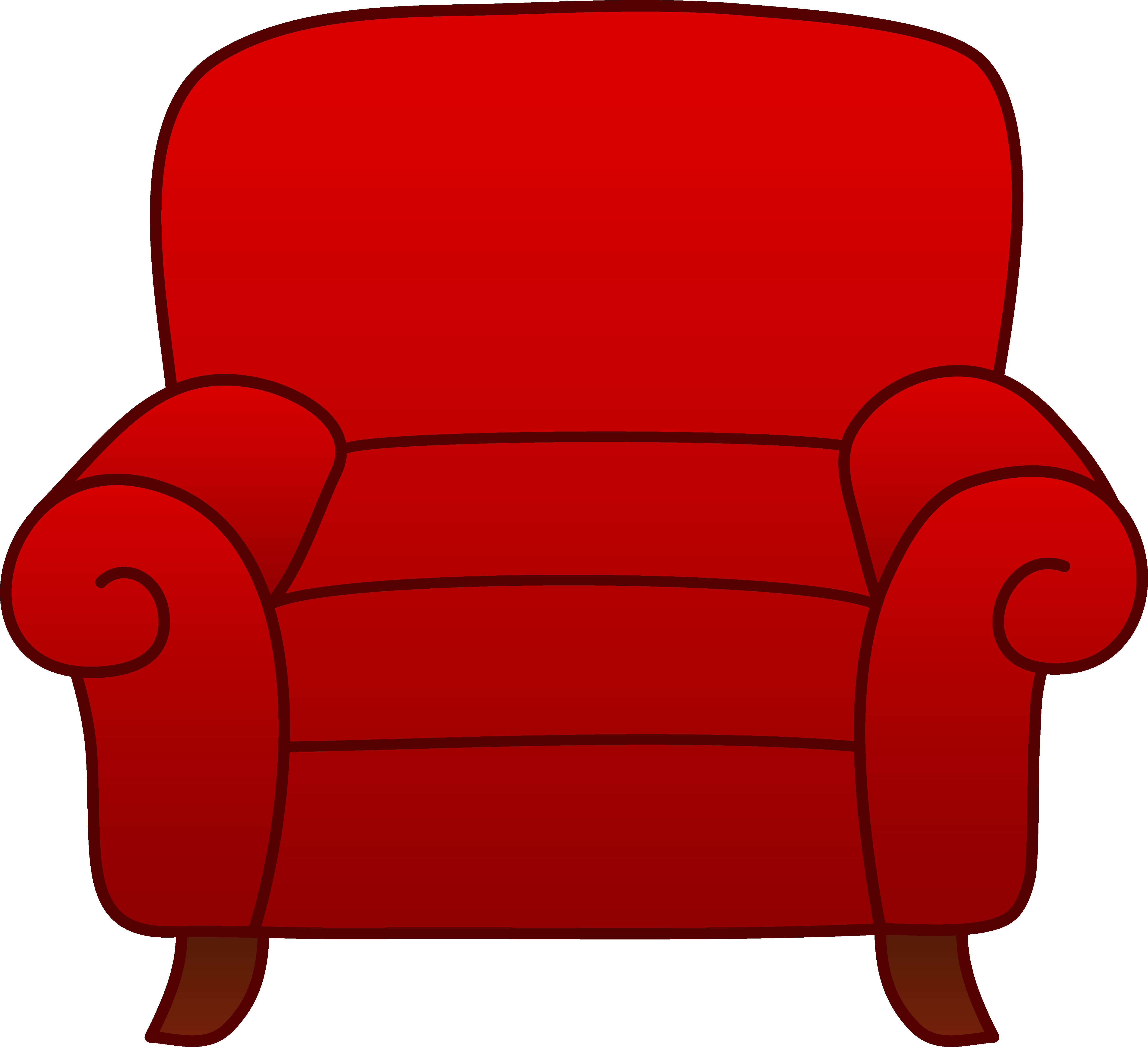 4966x4527 Red Armchair Clipart