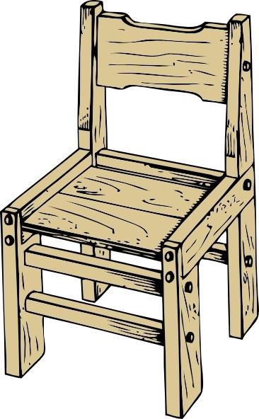366x592 Wooden Chair Clip Art Free Vector In Open Office Drawing Svg