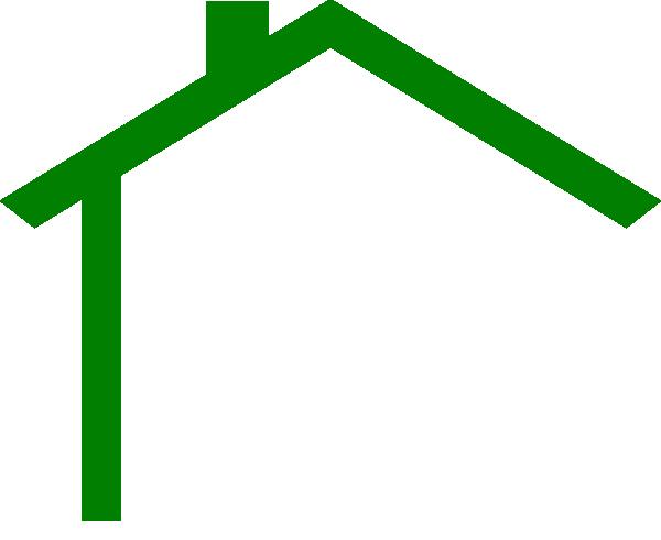 600x491 Darker Green House Clip Art
