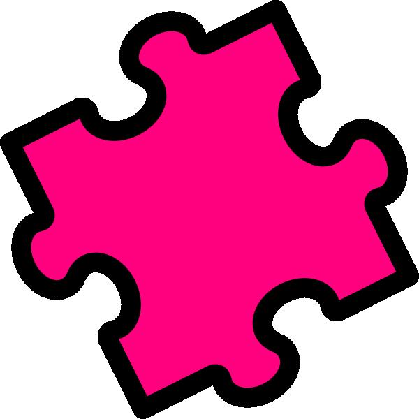 600x600 Pink Puzzle Piece Clip Art