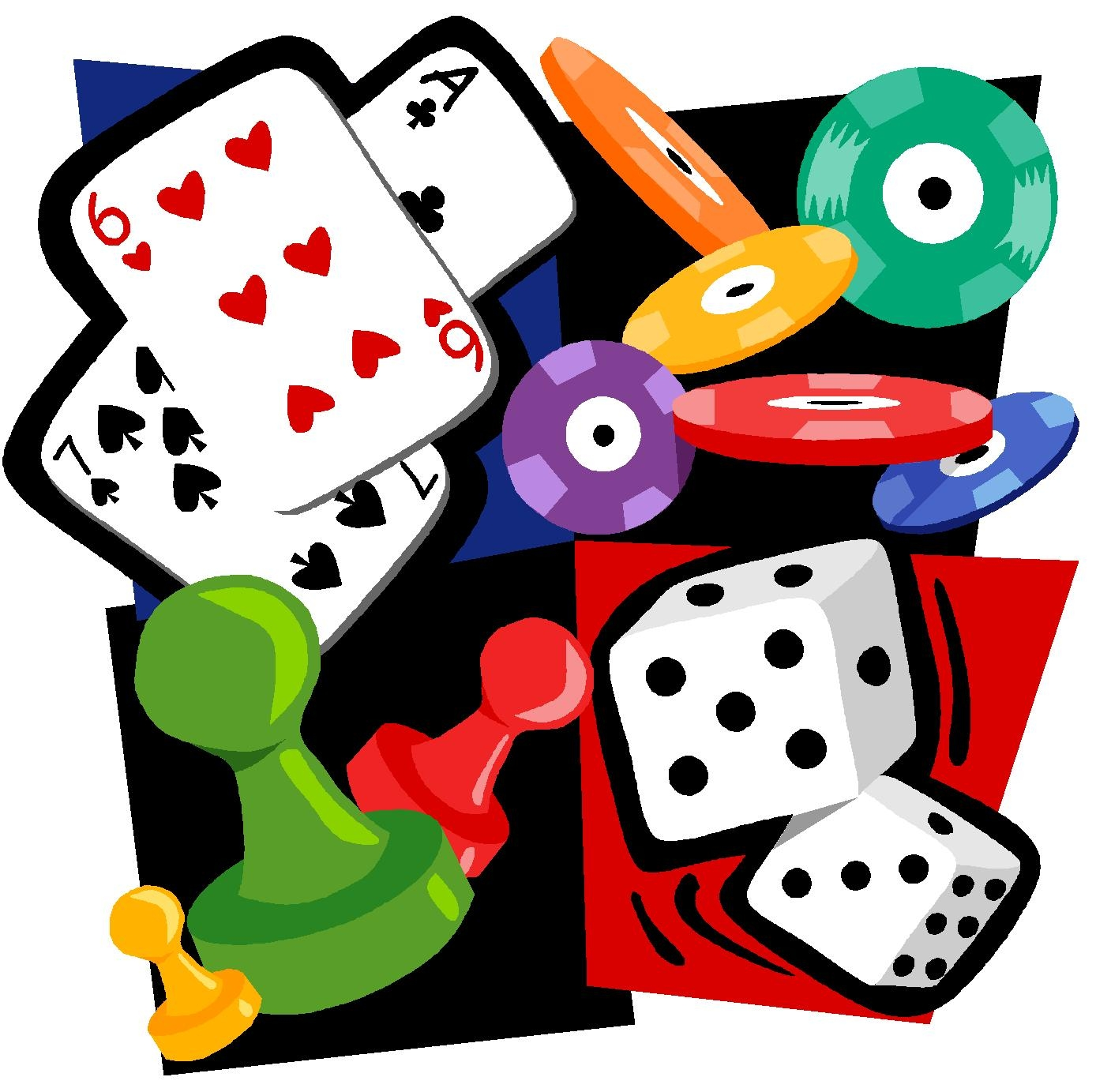 1388x1383 Card Clipart Game Night