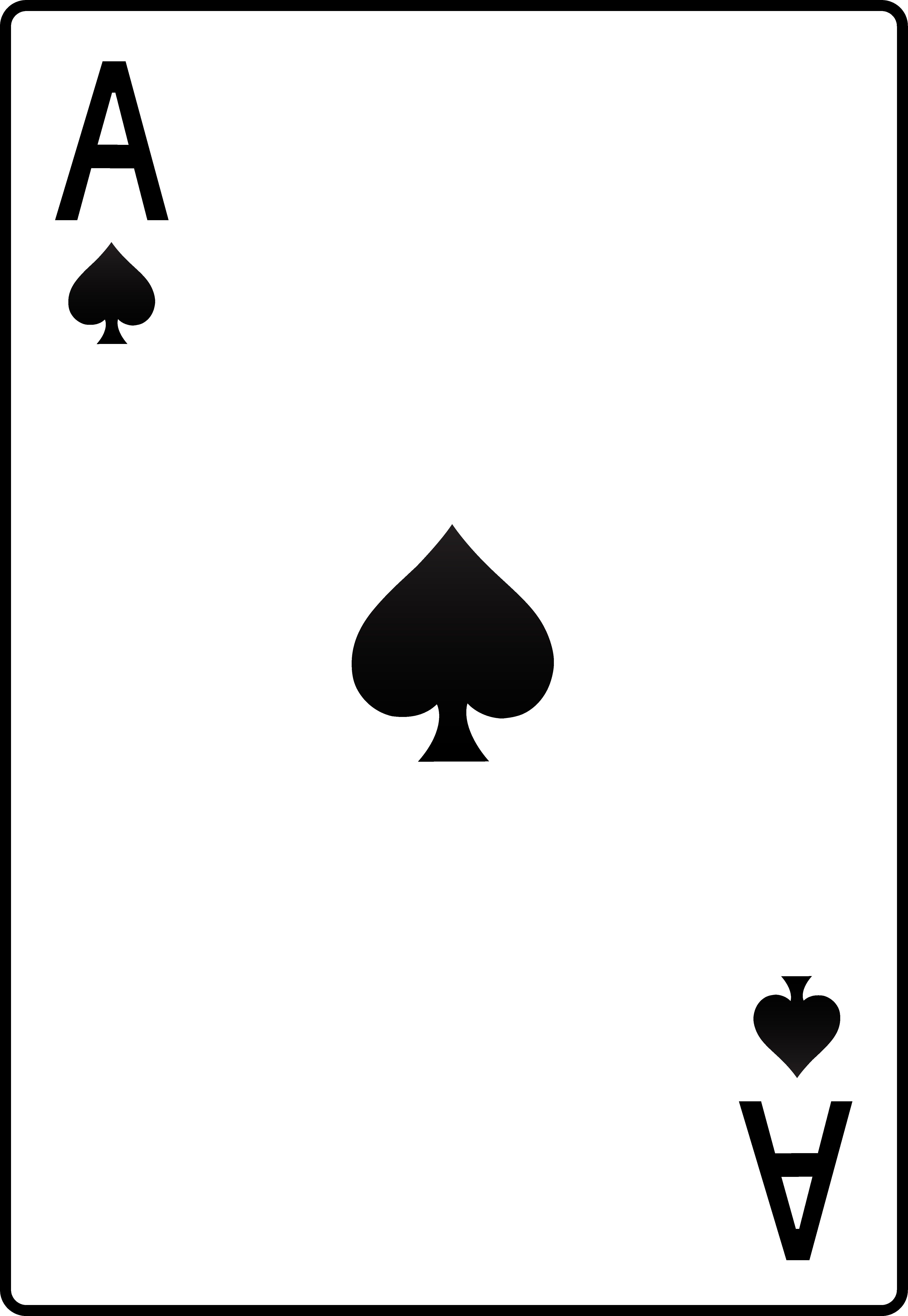 4782x6933 Ace Of Spades Playing Card