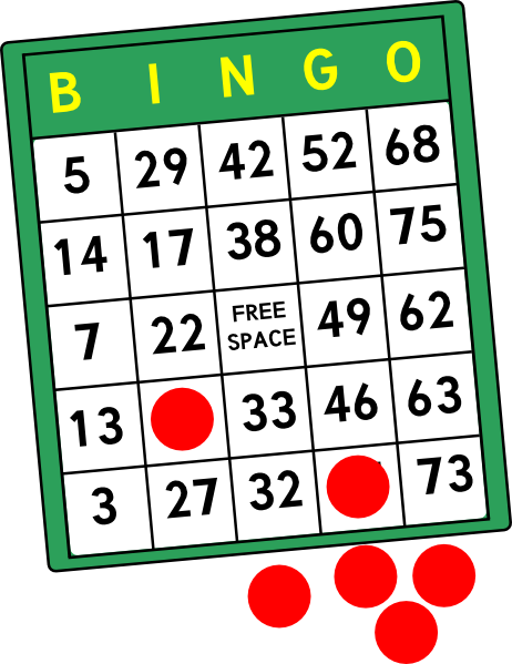462x599 Bingo Cards Clip Art