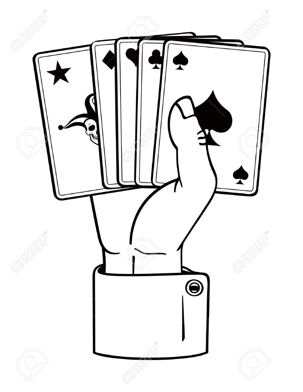 1004x1300 Hand Clipart Playing Card