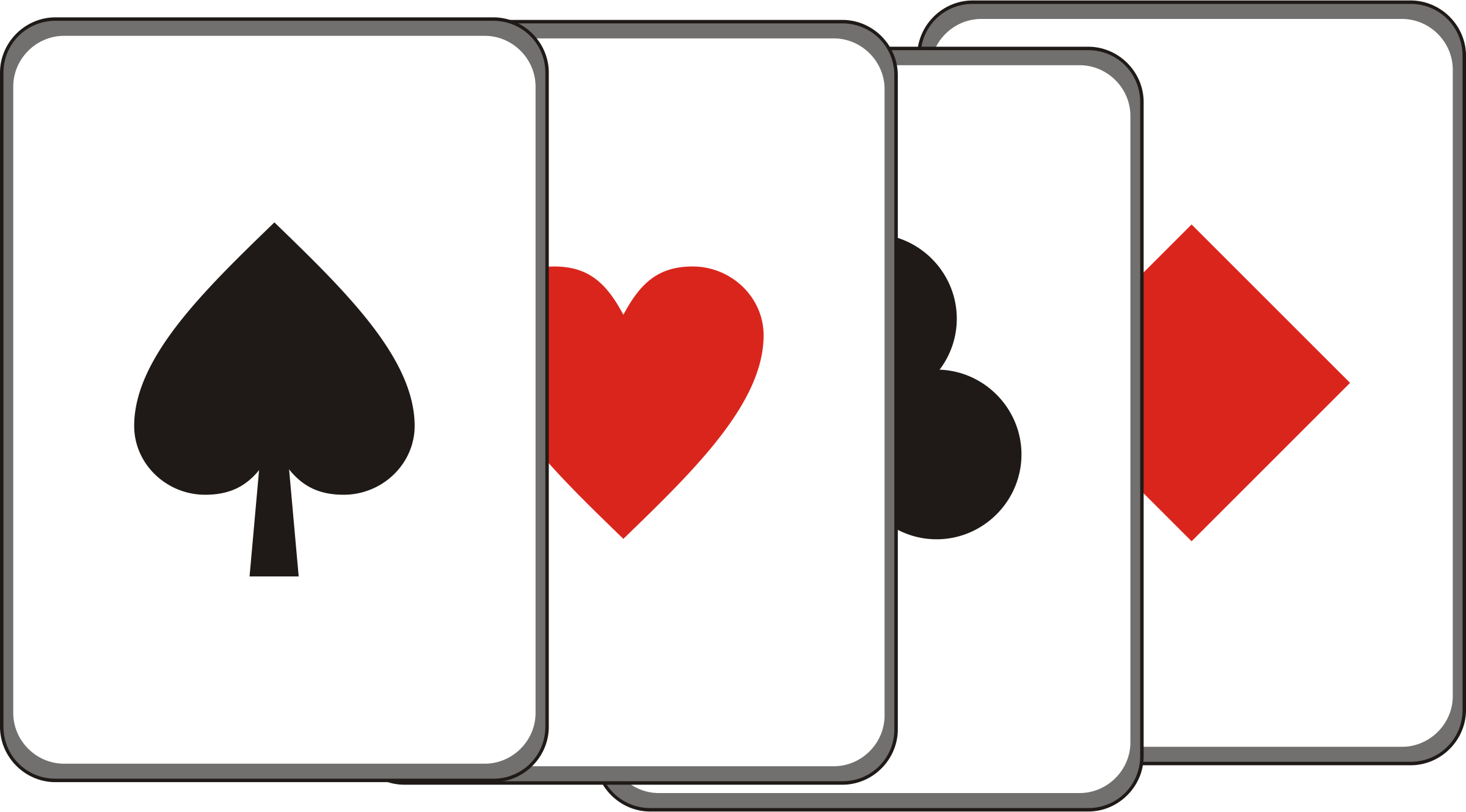 2400x1330 Playing Cards Clipart Many Interesting Cliparts