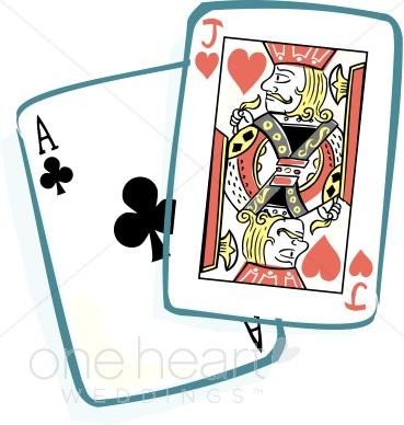 369x388 Blackjack Cards Clipart Honeymoon Clipart