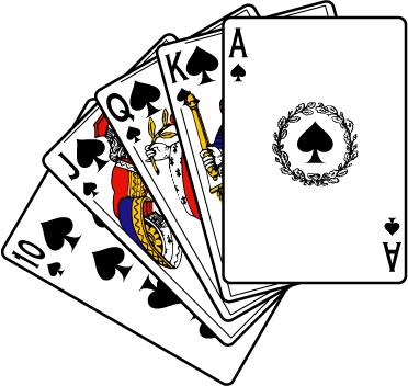 372x352 Poker Clipart Deck Card