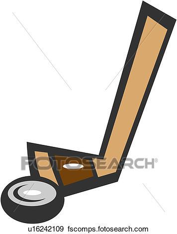 356x470 Clip Art Of Hockey Stick, Icehockey, Ball Game, Sport Supply, Ice