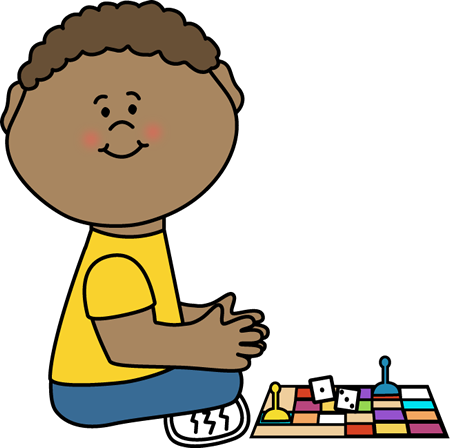 450x448 Kid With Board Game Clip Art