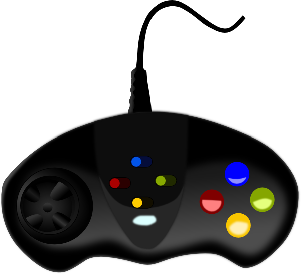 600x546 Video Game Controller Clip Art