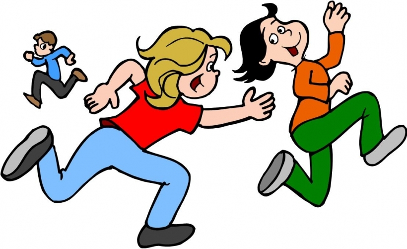 820x501 Playing Tag Clipart Tag Game Clipart
