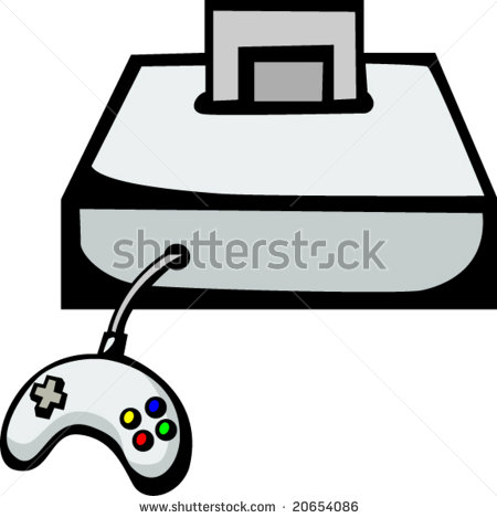 450x469 Video Game Console Clipart