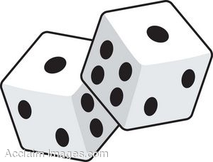300x228 Clip Art Of A Pair Of Six Sided Game Dice