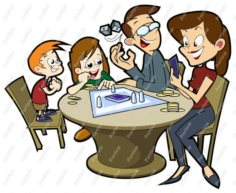 800x655 Family Playing Board Game Clip Art