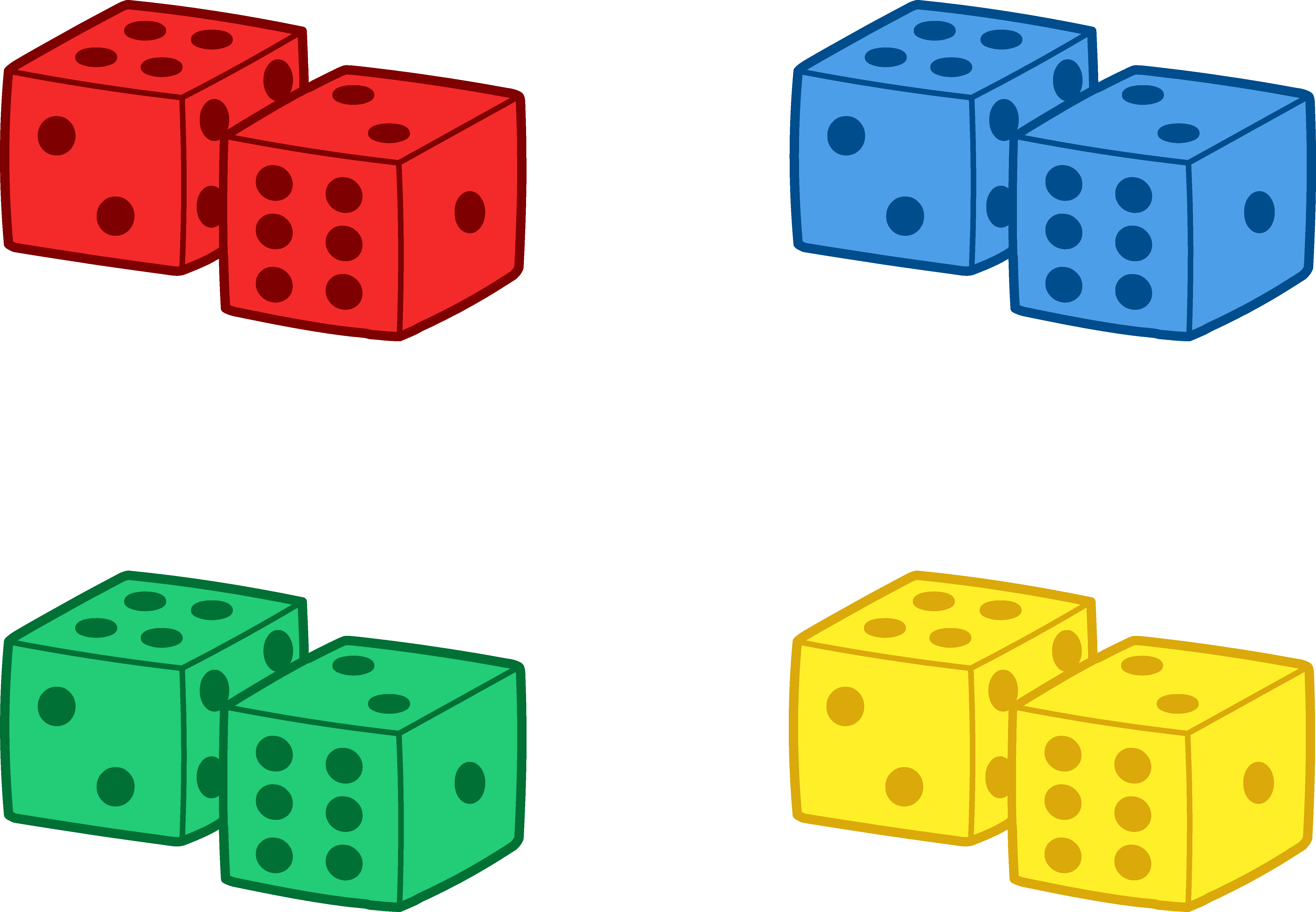 5896x4089 Set Of Colorful Playing Dice