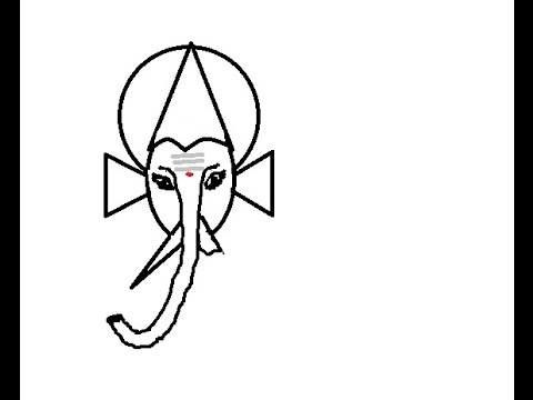 how to draw ganesha step by step