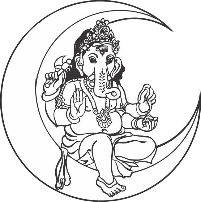 Ganesh Outline | Free download best Ganesh Outline on ...