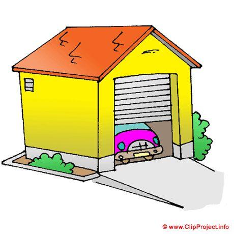 460x460 Garage Clipart Bild Free, House With Garage Clip Art