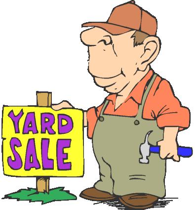 395x425 Garage Sale Sign Clipart