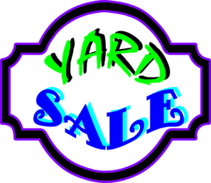 297x258 Yard Sale Sign Clip Art