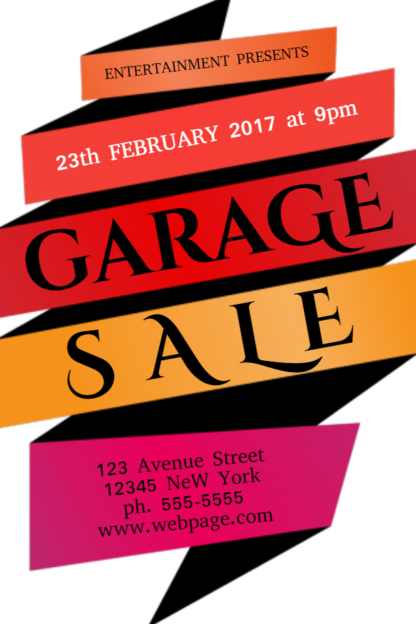599x899 Garage Sale Flyer Free Template