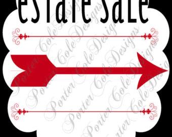 340x270 Garage Estate Yard Moving Sale Complete Printable Kit