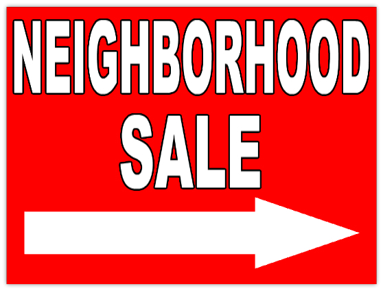 558x424 Annual Neighborhood Garage Sale June 3rd And 4th