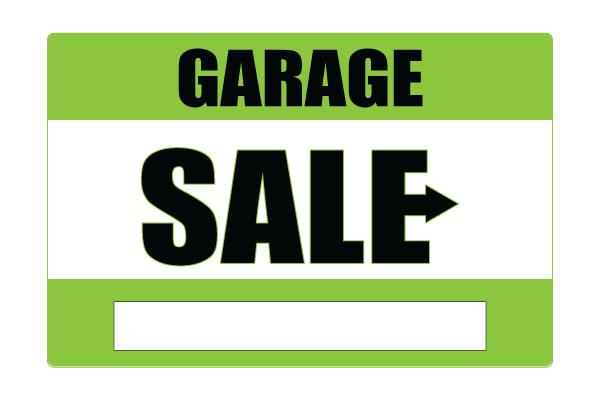 600x400 Printable Garage Sale Signs Green Free Download