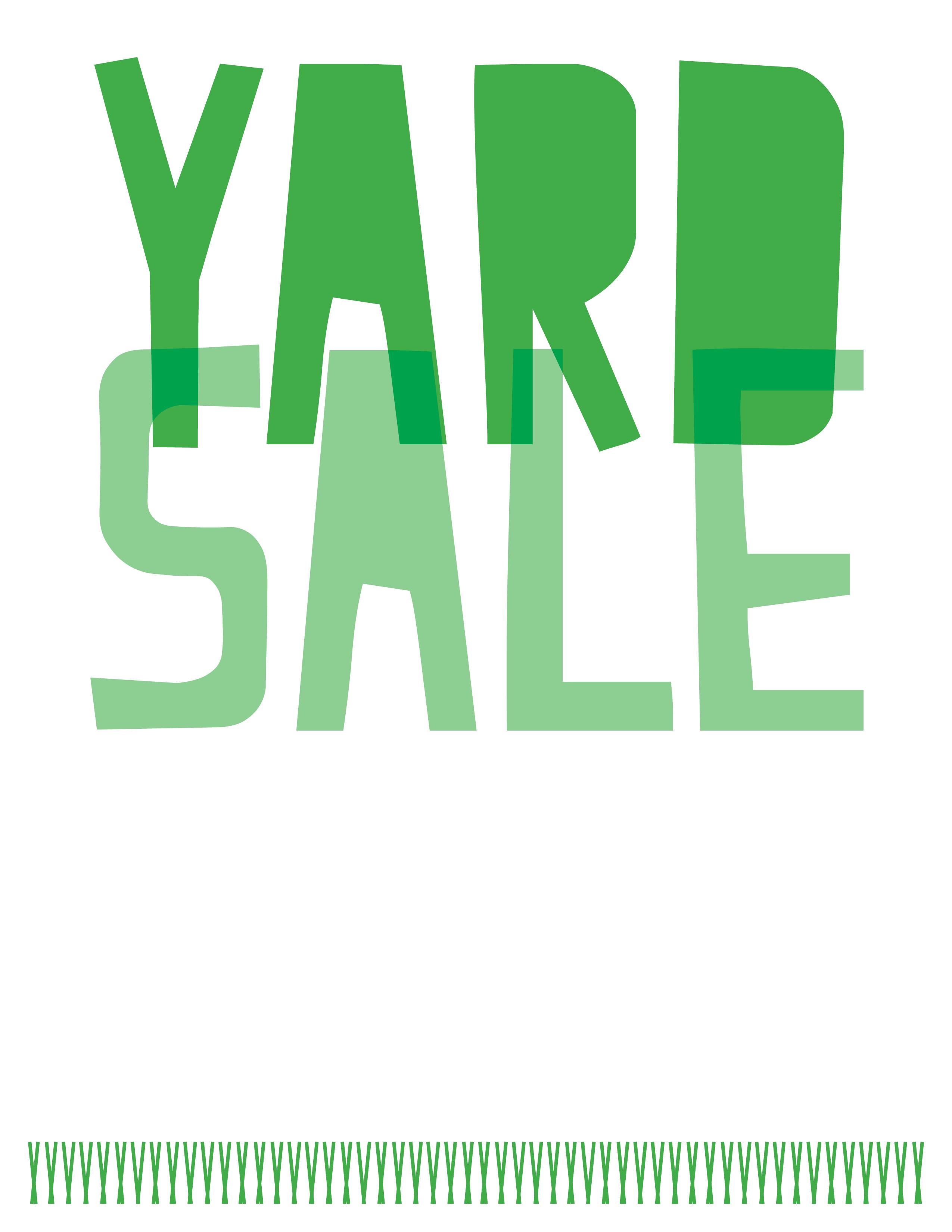 2550x3300 Yard Sale Hello Sunshine