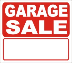 230x202 Sale Signs, Yard Sale Signs,garage Sale Signs,for