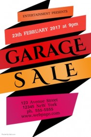 188x282 Customizable Design Templates For Garage Sale Flyer Postermywall
