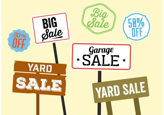 700x490 Yard Sale Sign Vectors
