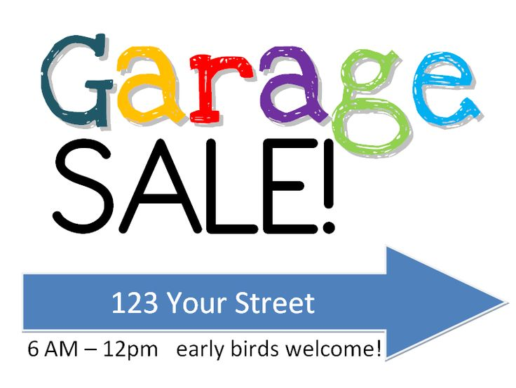Garage Sale Sign Clipart