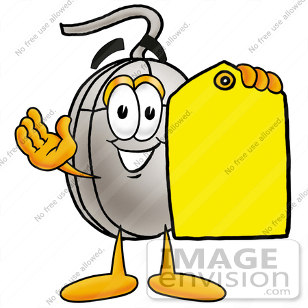 450x450 Clip Art Graphic Of A Wired Computer Mouse Cartoon Character