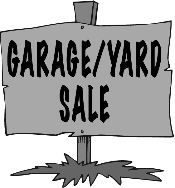 561x603 Garage Sale Sign Clipart