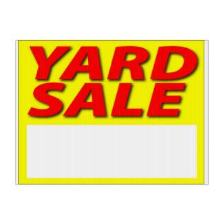 324x324 Garage Sale Yard Amp Lawn Signs Zazzle