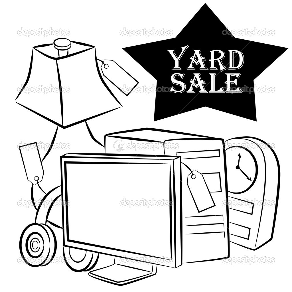 1024x1024 Sale Multi Family Yard Clipart