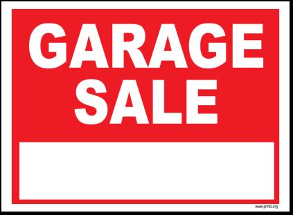 423x311 Garage Sale Signs Garage Sale 2016 Valo