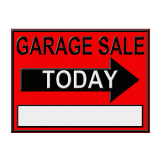 324x324 Garage Sale Signs Gifts On Zazzle