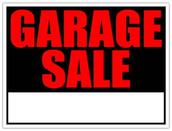 558x424 Generic Garage Sale Sign