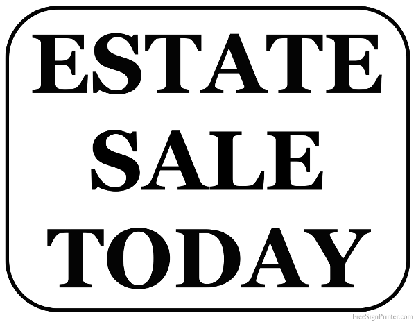 600x464 Printable Garage Sale Signs