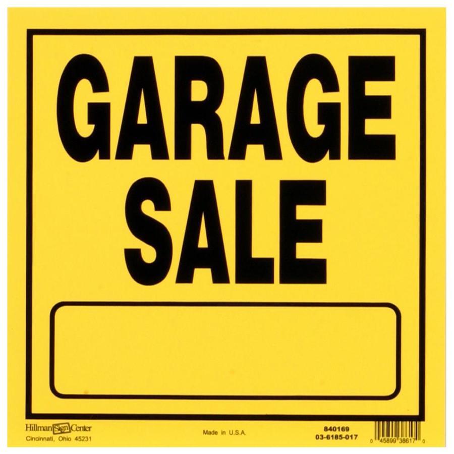 900x900 Shop Hillman Sign Center 11 In X 11 In Garage Sale Sign