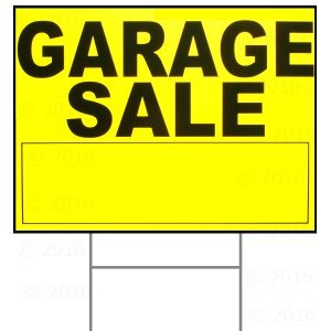 300x300 18 X 24 Garage Sale Sign W H Stake Industrial