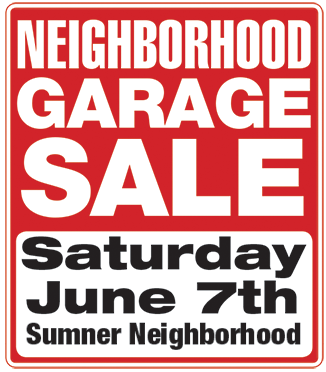 326x372 Garage Sale Sumner Association Of Neighbors (San)