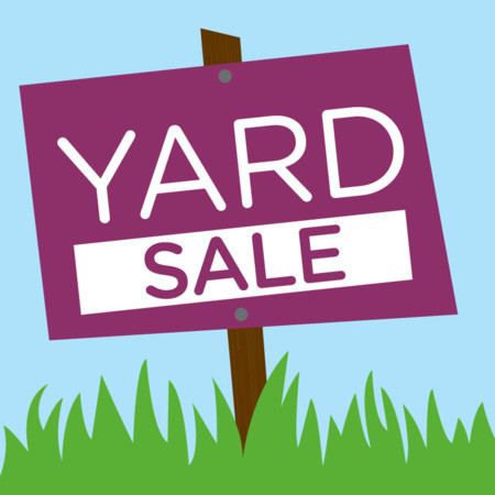 450x450 Yard Sale Flyers Clipart