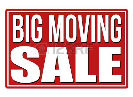 450x330 Big Moving Sale Red Sign Isolated On A White Background, Vector