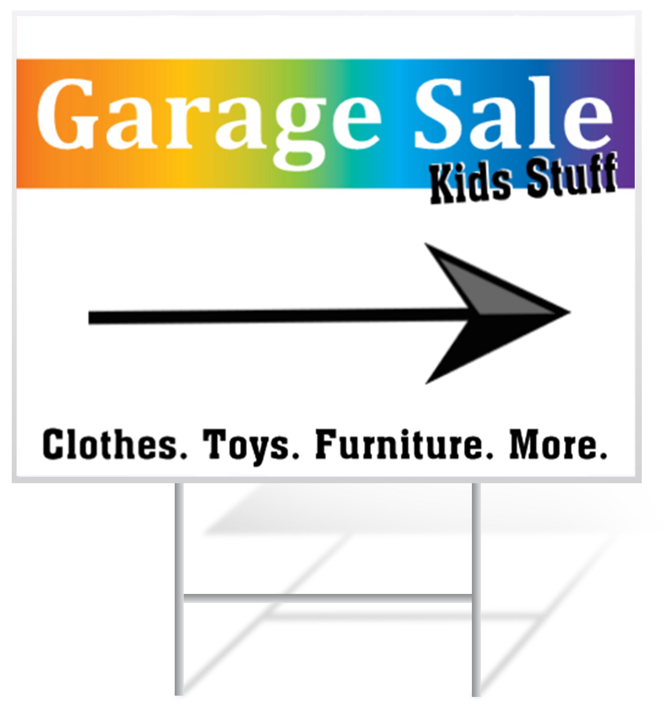 2252x2400 Garage Sale Yard Signs