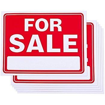 350x350 For Sale Signs 11 X 14 Inch
