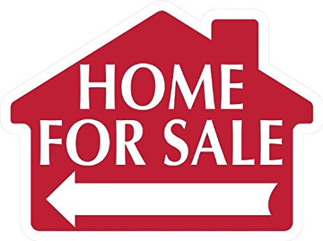 463x345 Home For Sale Sign With Arrow