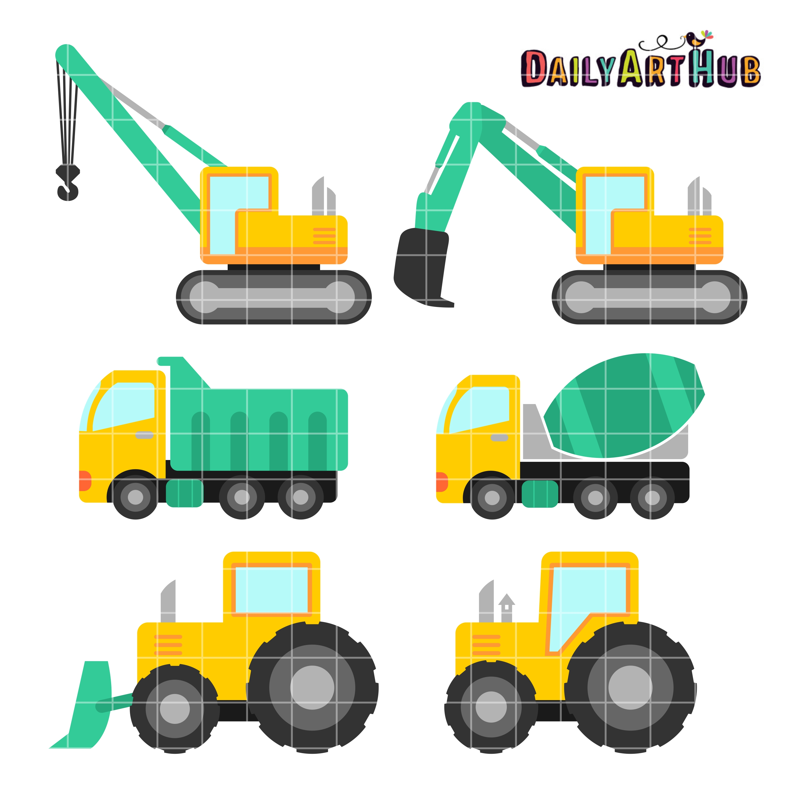 2664x2670 Vehicle Clipart Construction Vehicle